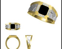Gold Diamond Ring 18 3D