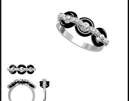 3D Diamond Ring 166