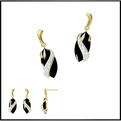 Gold Diamond Earring 113D model