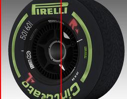 enkei intermediate front tyre 3D Model