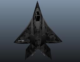 Stealth Fighter 3D Model