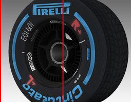 enkei wet front tyre 3D Model