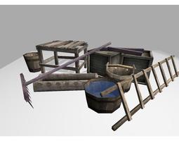 3D model medieval props pack