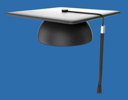 student graduation cap 3d model