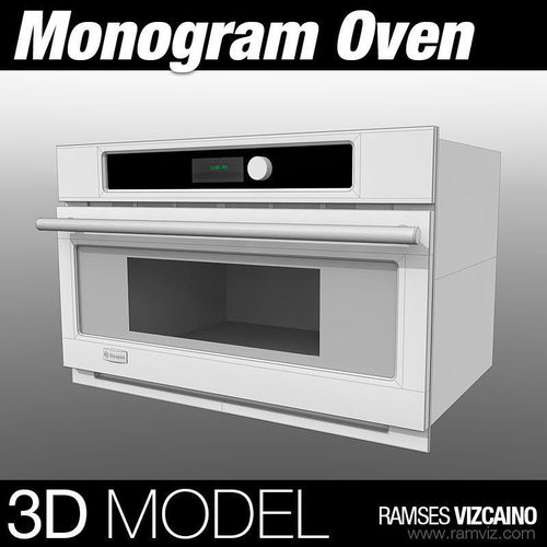 Monogram Oven3D model