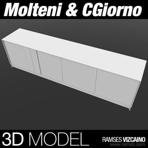Molteni and CGiorno TV Table3D model
