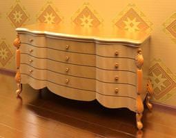 Regal Ornate Dresser 3D Model