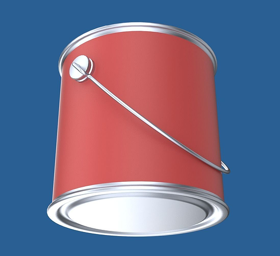 paint can 3d model obj fbx blend mtl 1