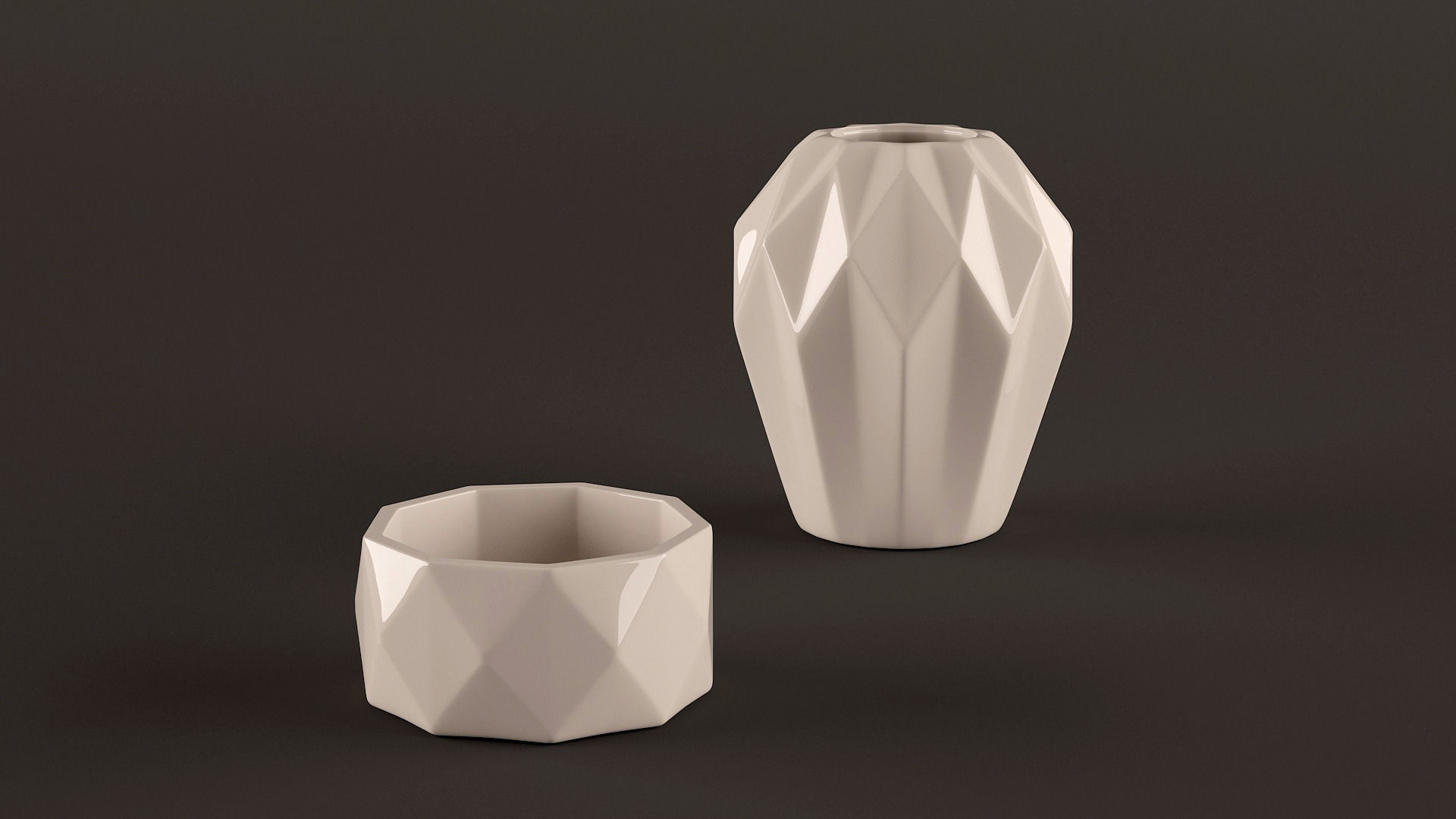 Origami vases 3D Model MAX OBJ FBX | CGTrader.com - photo#16