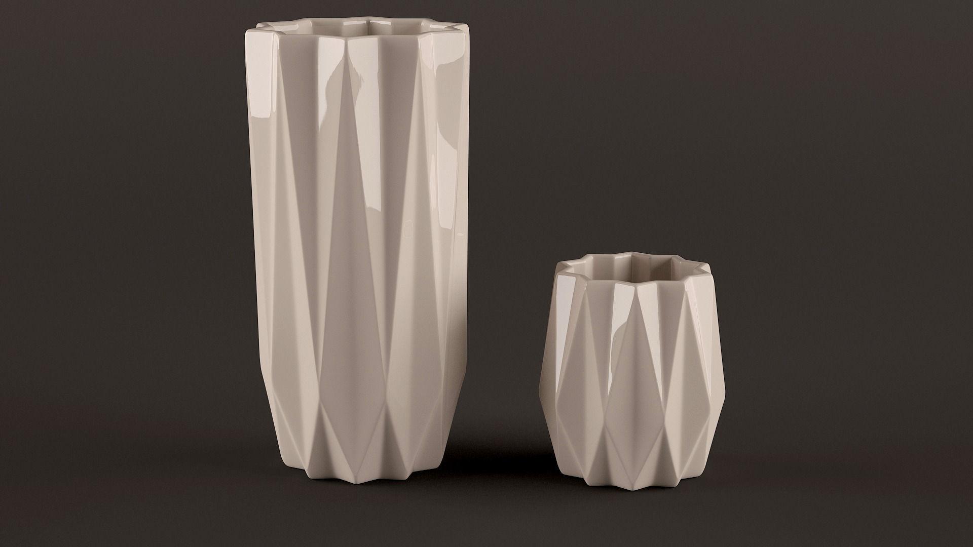 Origami Vases 3d Model Max Obj Fbx Mtl Unitypackage 6
