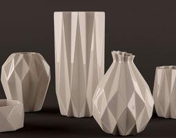 3D model Origami vases