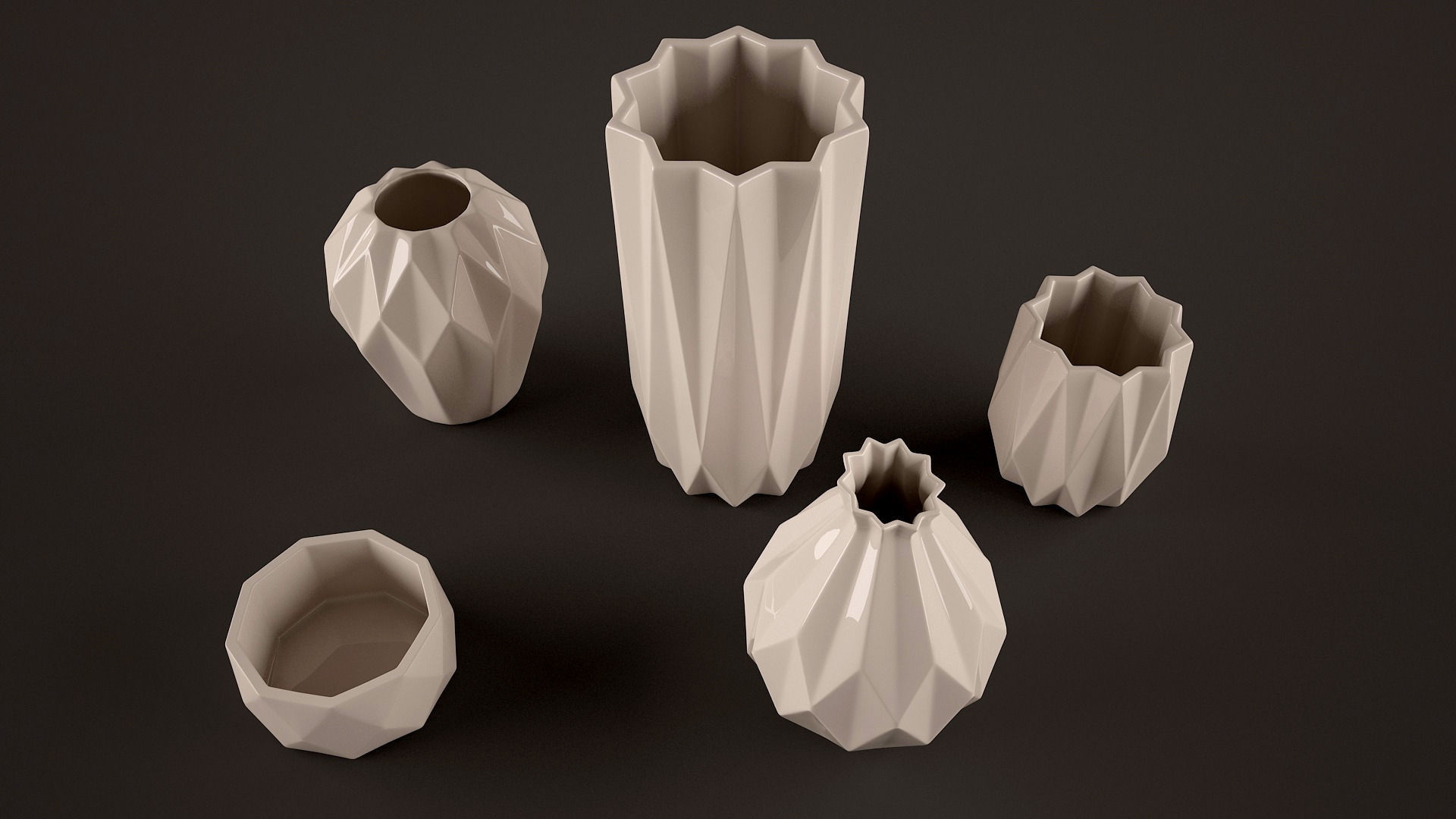 Origami vases 3D Model MAX OBJ FBX | CGTrader.com - photo#21