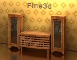 Storage Unit Antique -09-057- Cabinet 3D