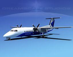 DeHavilland DHC-8-Q300 Trans Carribean 3D