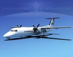 3D model DeHavilland DHC-8-Q300 UN