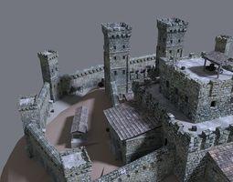 castle 3d model obj 3ds fbx blend dae