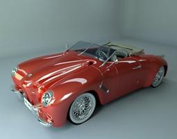 Generic retro speedster 3D Model