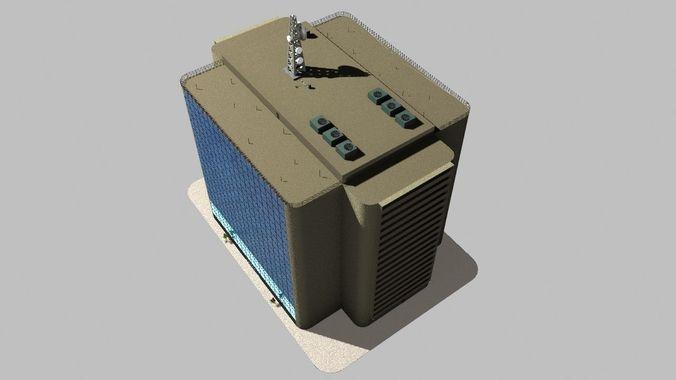 Simple Office Building3D model