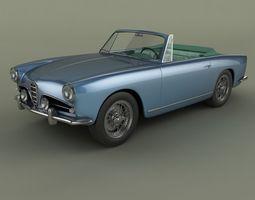 Alfa Romeo 1900 SS Cabrio 3D Model