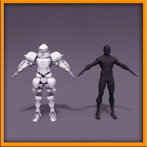 Male Knight - armor3D model