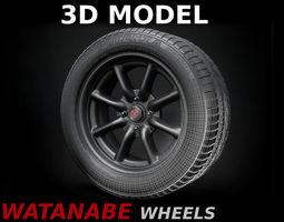 Watanabe Racing Wheels 3D Model