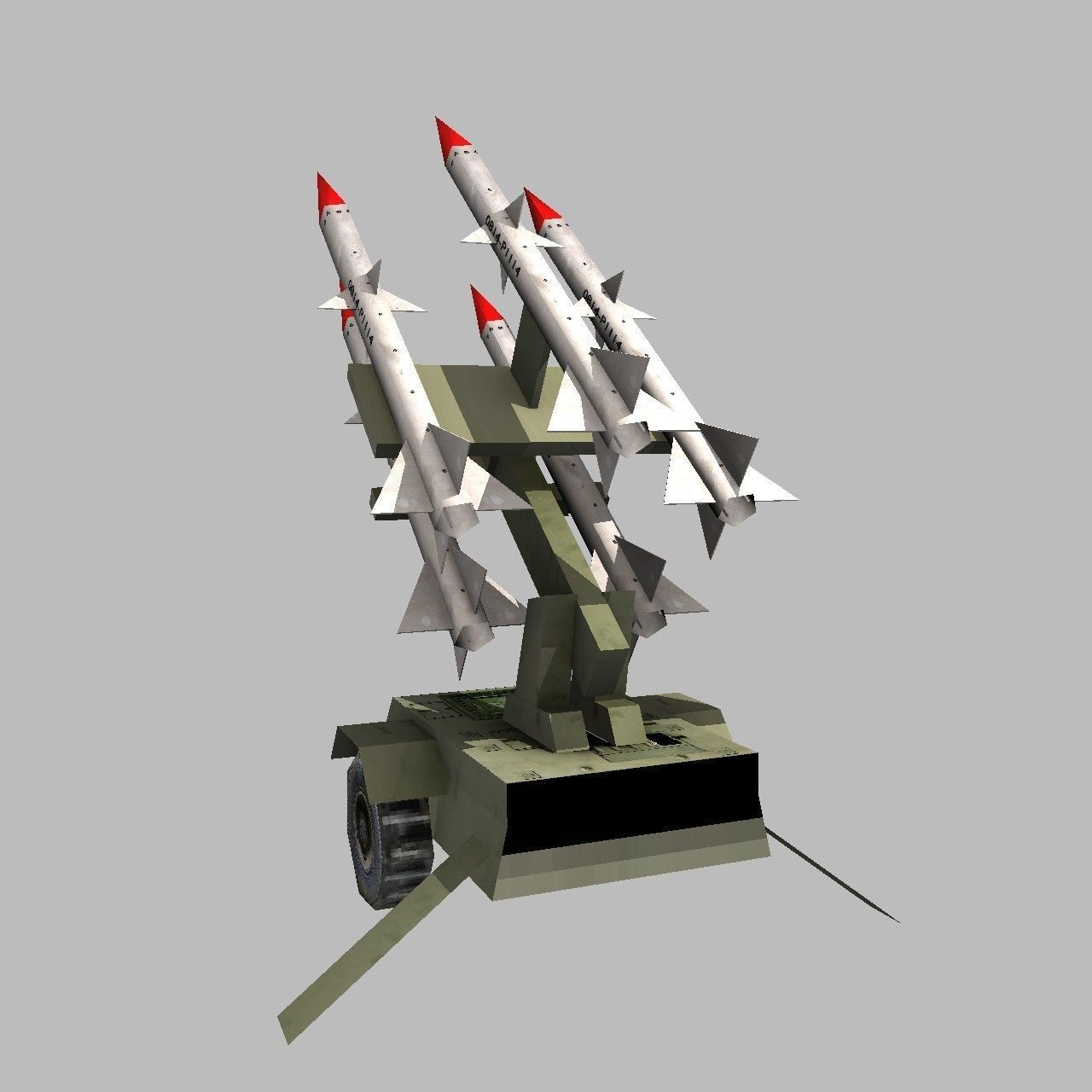 Anti Aircraft Missile Battery 3d Model Game Ready Obj