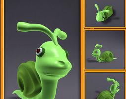 Cartoon Snail Funny 3D Model
