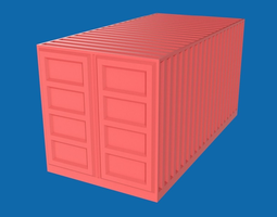 VR / AR ready 3d asset shipping container