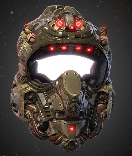 helmet kepler-22b 3d model obj mtl fbx blend 1