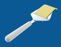 Cheese slicer with cheese slice 3D Model
