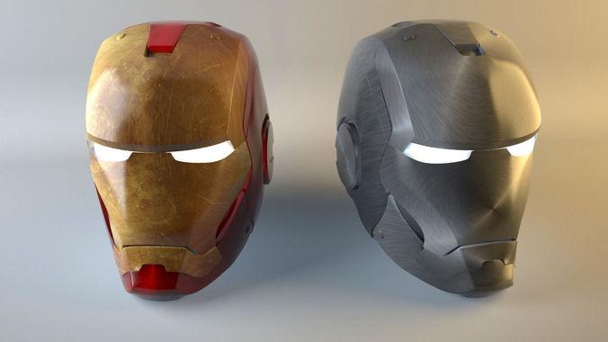Iron man high poly head model3D model