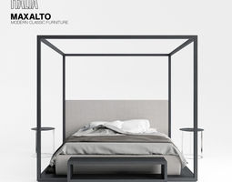 maxalto alcova bed 3d model