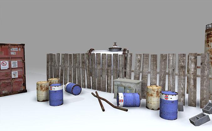industrial pack 3d model max obj mtl fbx tga 1