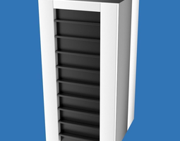3d model server or mainframe computer cabinet