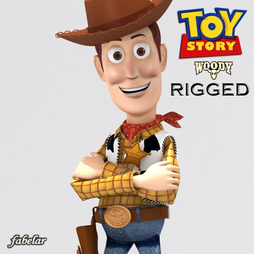 Woody rigged3D model