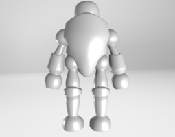 3d print model robot toy cartoon