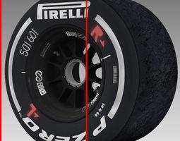 enkei medium rear tyre 3D Model