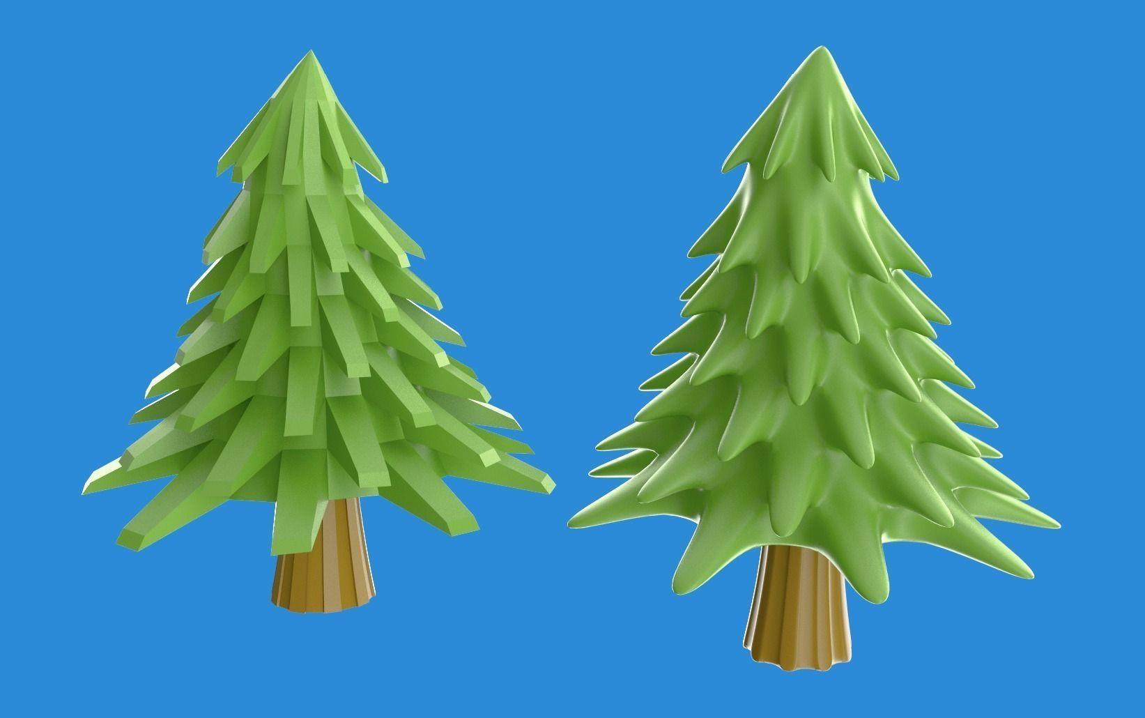 Cartoony pine or xmas tree