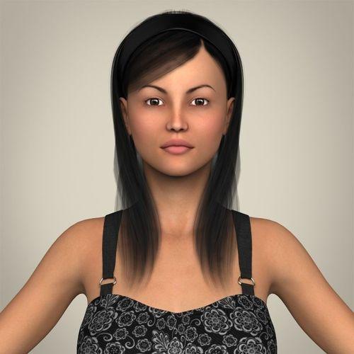 Realistic Pregnant Woman3D model