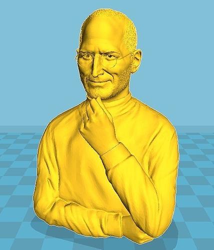 Steve Jobs Bust 3D Print Model