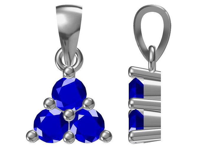 diamond pendant 1283 3d model jcad jcd 1