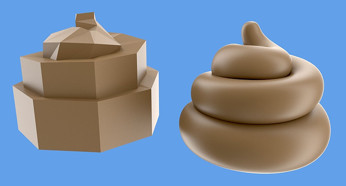 turd or poop 3d model low-poly obj mtl blend 1