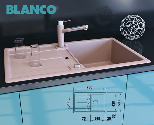 blanco metra 45 s 3d model max obj fbx. Black Bedroom Furniture Sets. Home Design Ideas