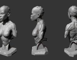 3d printable model female bust
