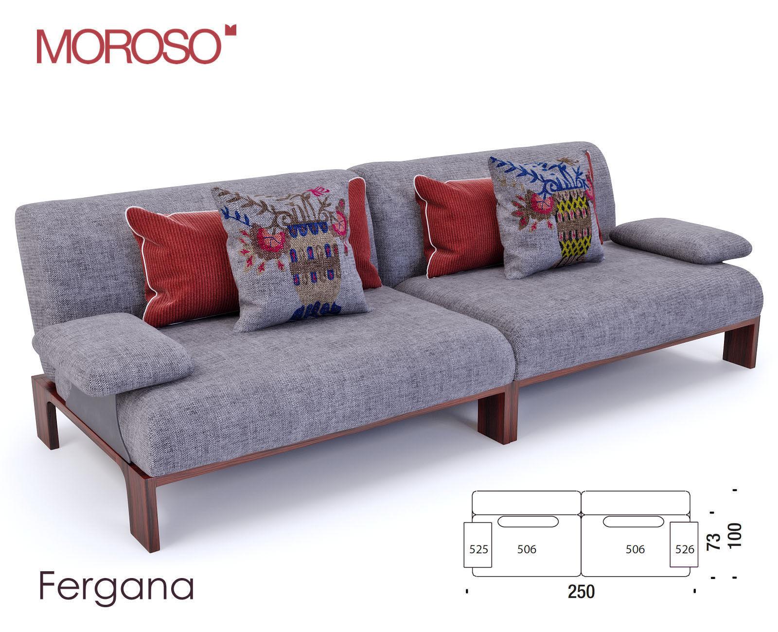 Moroso Fergana Sofa 3D Model Max Obj Fbx