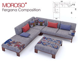 Moroso - Fergana sofa Composition 3D