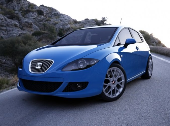 seat leon 2007 3d cgtrader. Black Bedroom Furniture Sets. Home Design Ideas