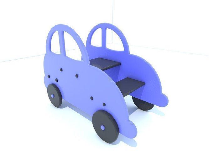 car seat 3d model low-poly obj mtl 3ds fbx 1
