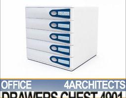 Office Drawers Unit 4901 3D Model