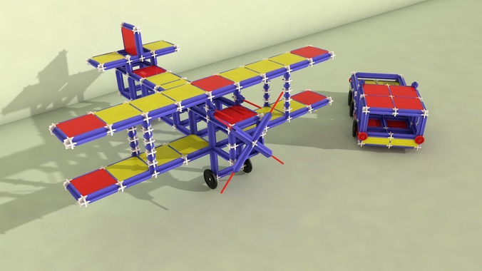 Toy Plane and Truck3D model